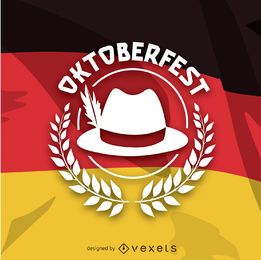 Oktoberfest logo over German flag