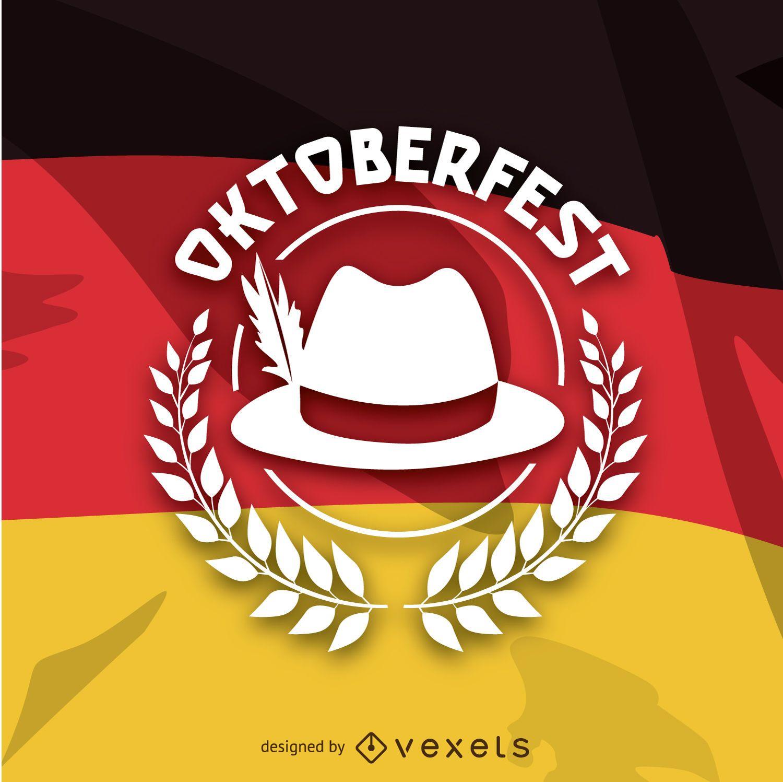 Oktoberfest logo over German flag