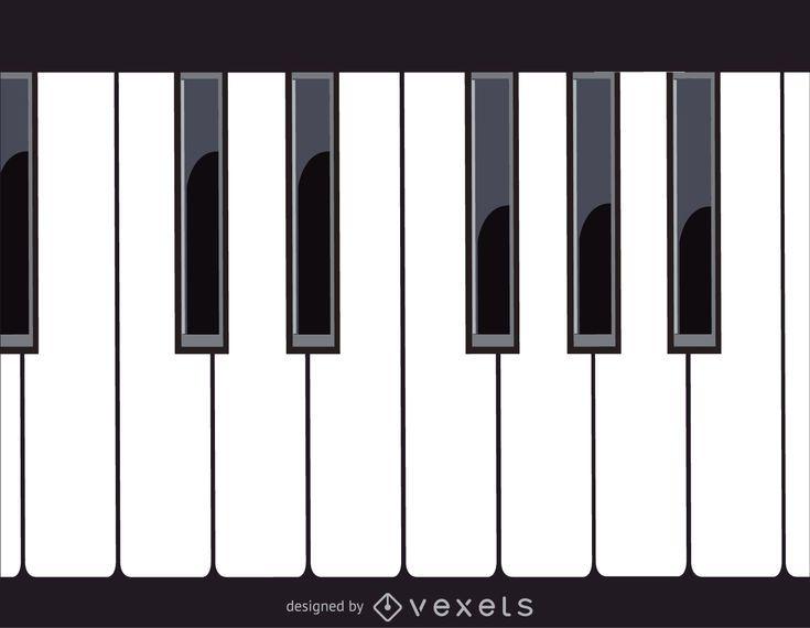 Teclas de piano - Descargar vector