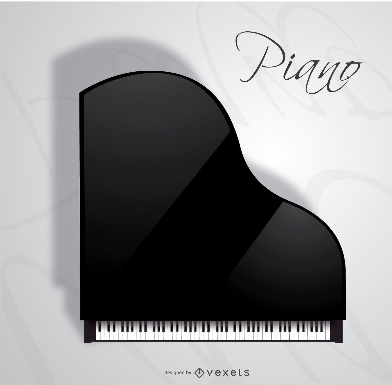 Concierto vista superior de piano de cola - Descargar vector