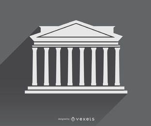 Griechische Architekturikone Symbol