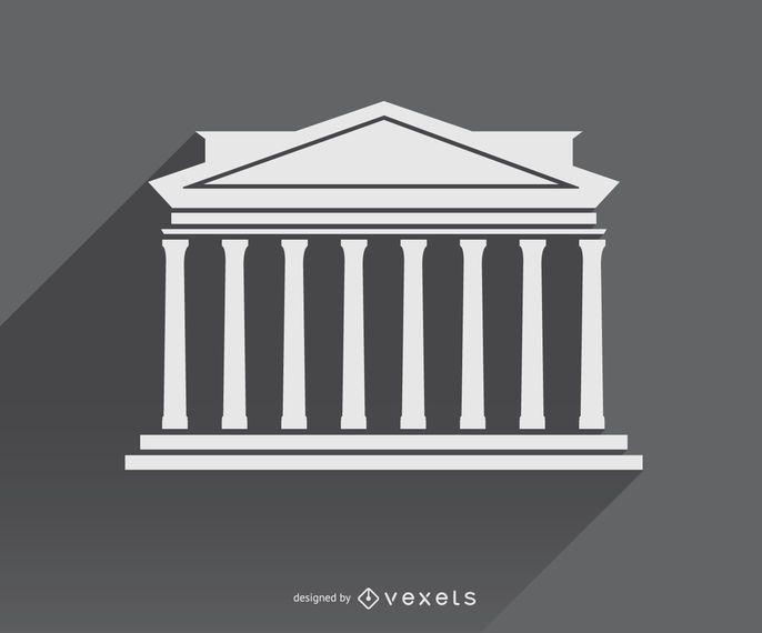 Símbolo do ícone da arquitetura grega