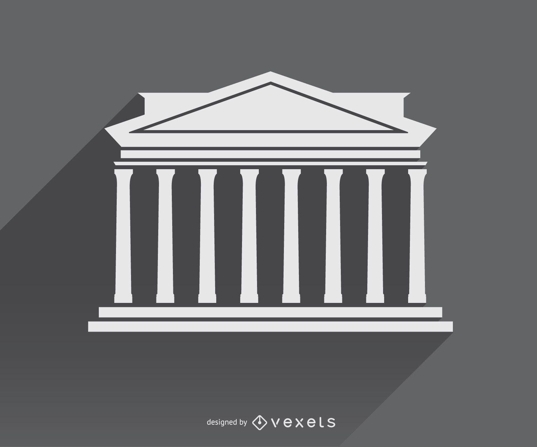Greek Architecture icon symbol