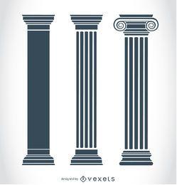 Antike griechische Säulen