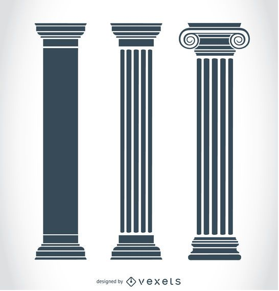 Pilares del griego cl sico descargar vector - Pilares y columnas ...