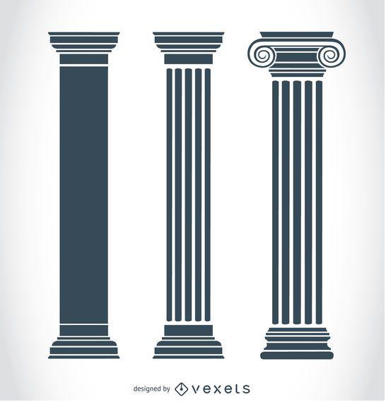 Pilares gregos antigos
