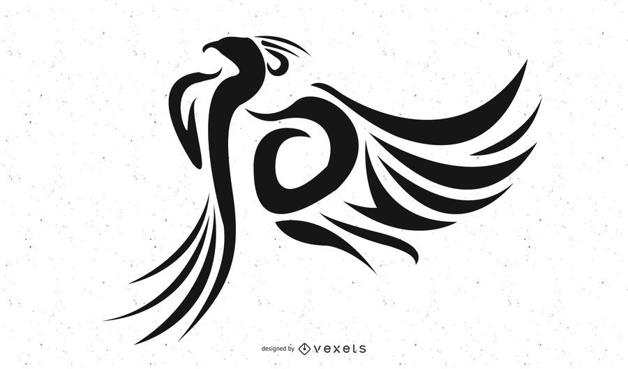 Hermoso tatuaje tribal de fénix