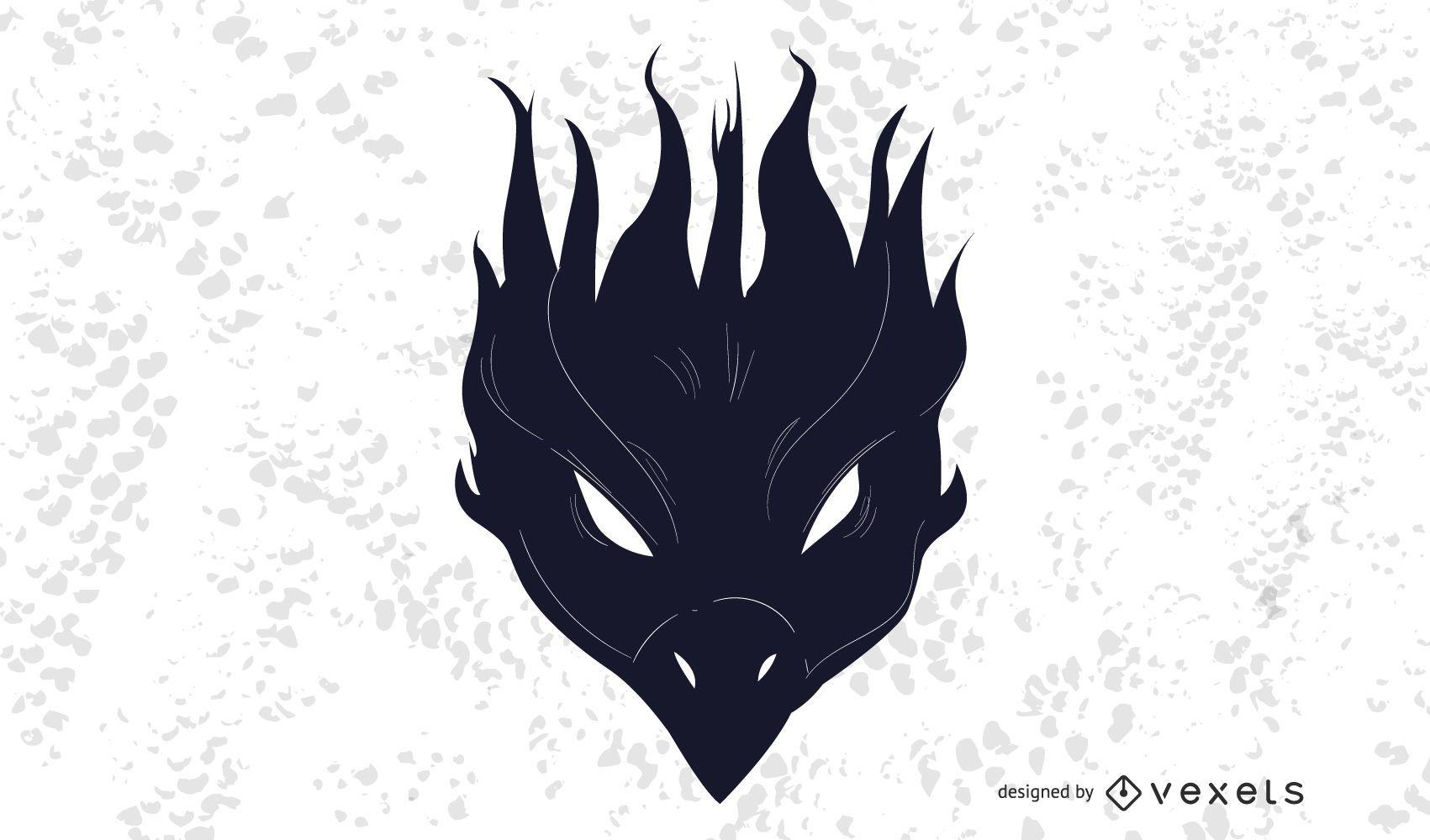 Decoración de pájaro fénix negro