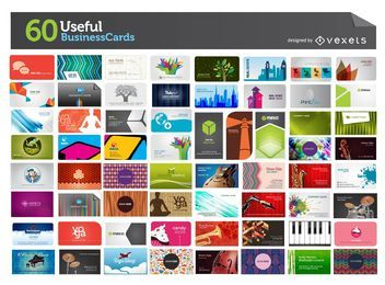 Mega Pack de 60 útiles tarjetas de visita