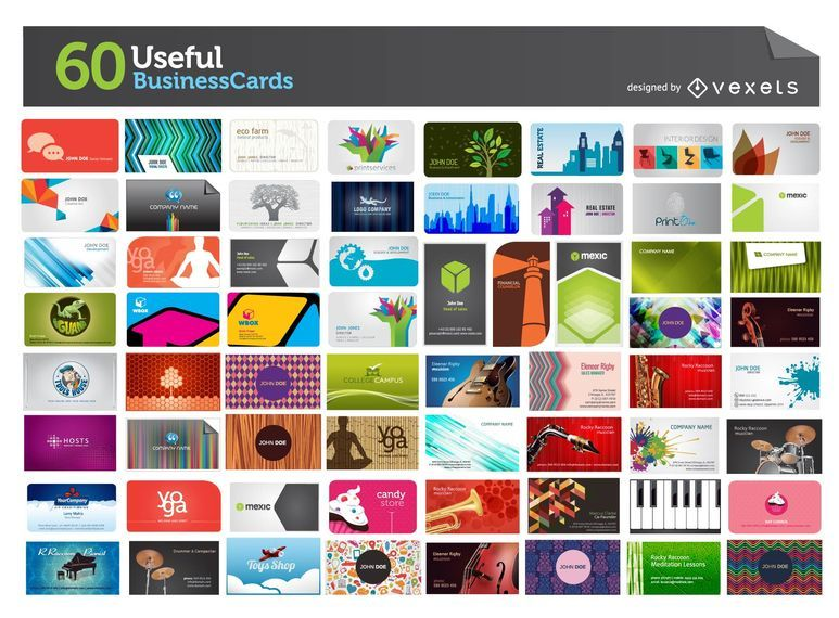 60 Usefull Business Cards Mega Pack