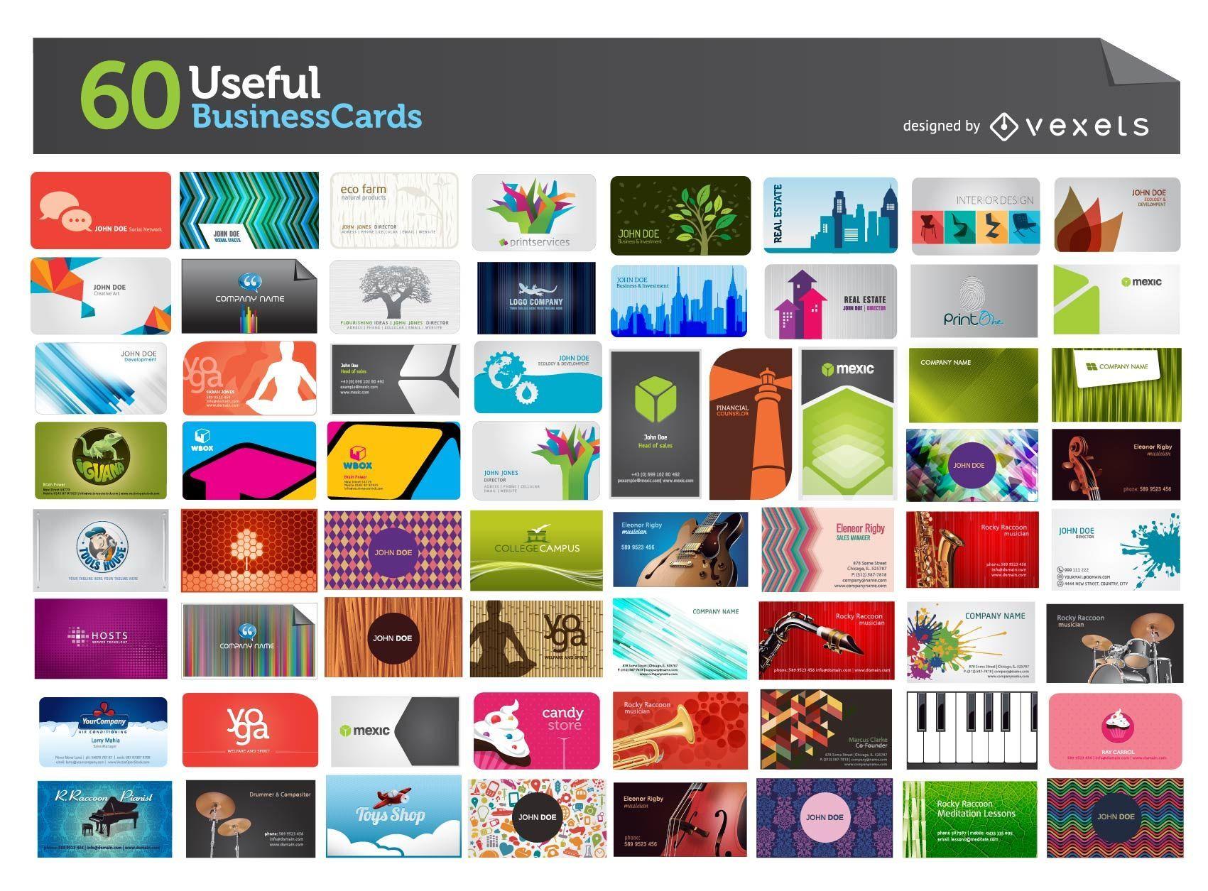 60 Nützliche Visitenkarten Mega Pack