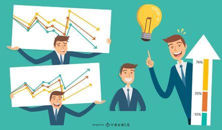 Dibujos animados de chico de negocios