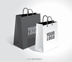 Conjunto de sacolas de compras