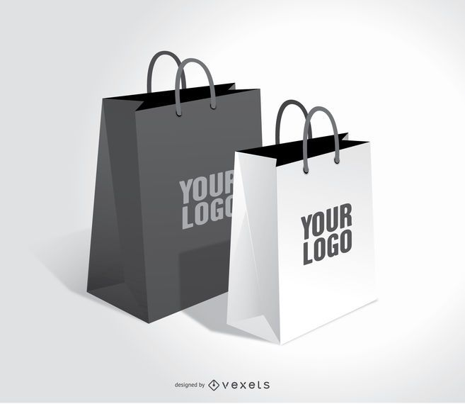 Shopping bags mock up