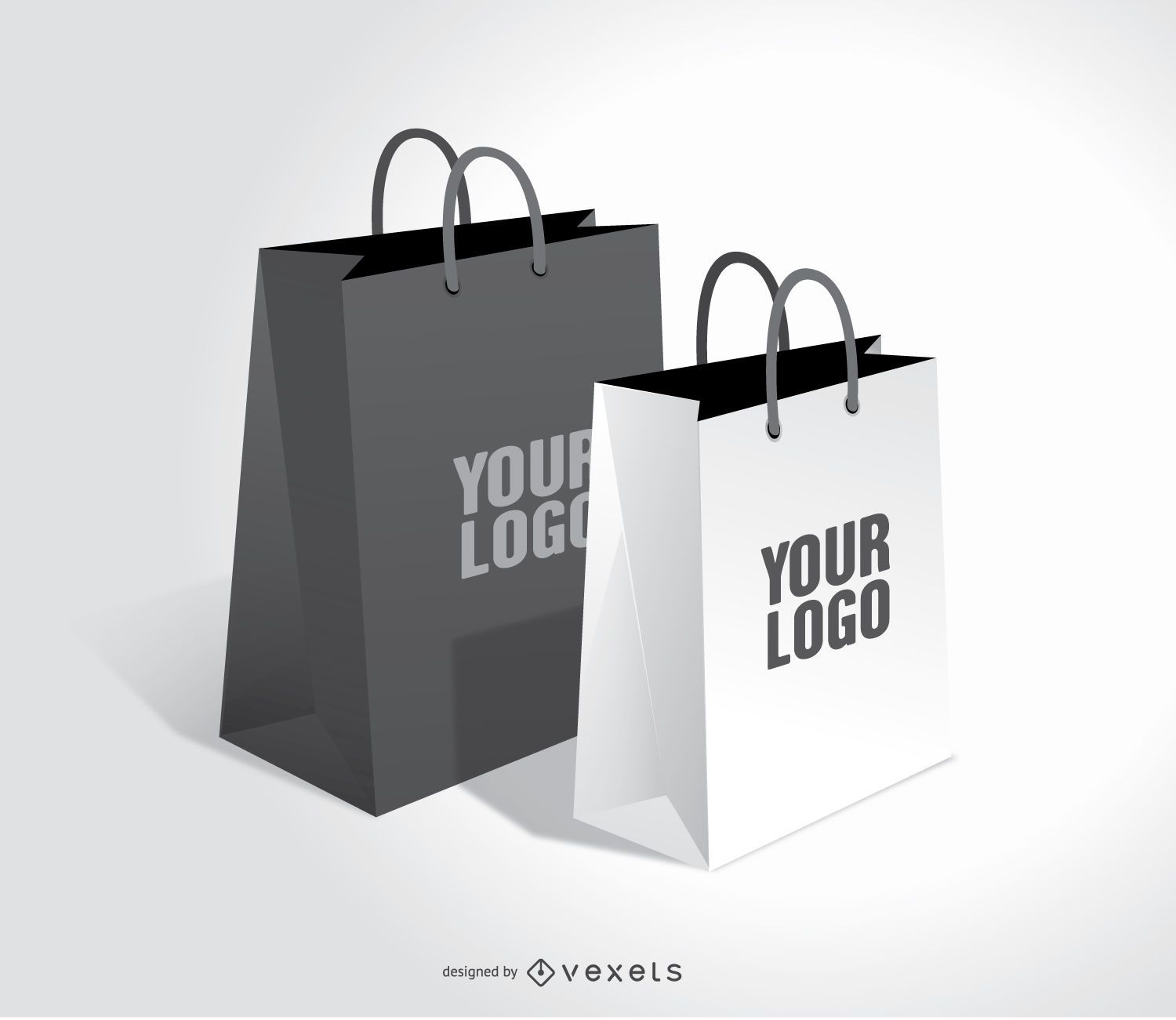 shopping bags mock up vector download