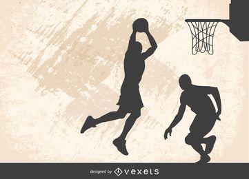 Vetor de dunk de basquete