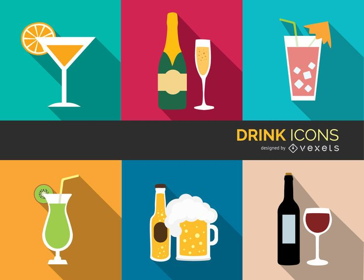 Colorful Drink Icons