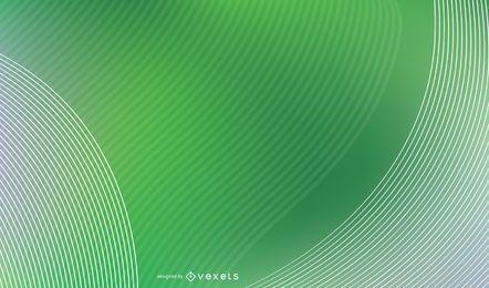 Cubierta de curvas verdes abstractas