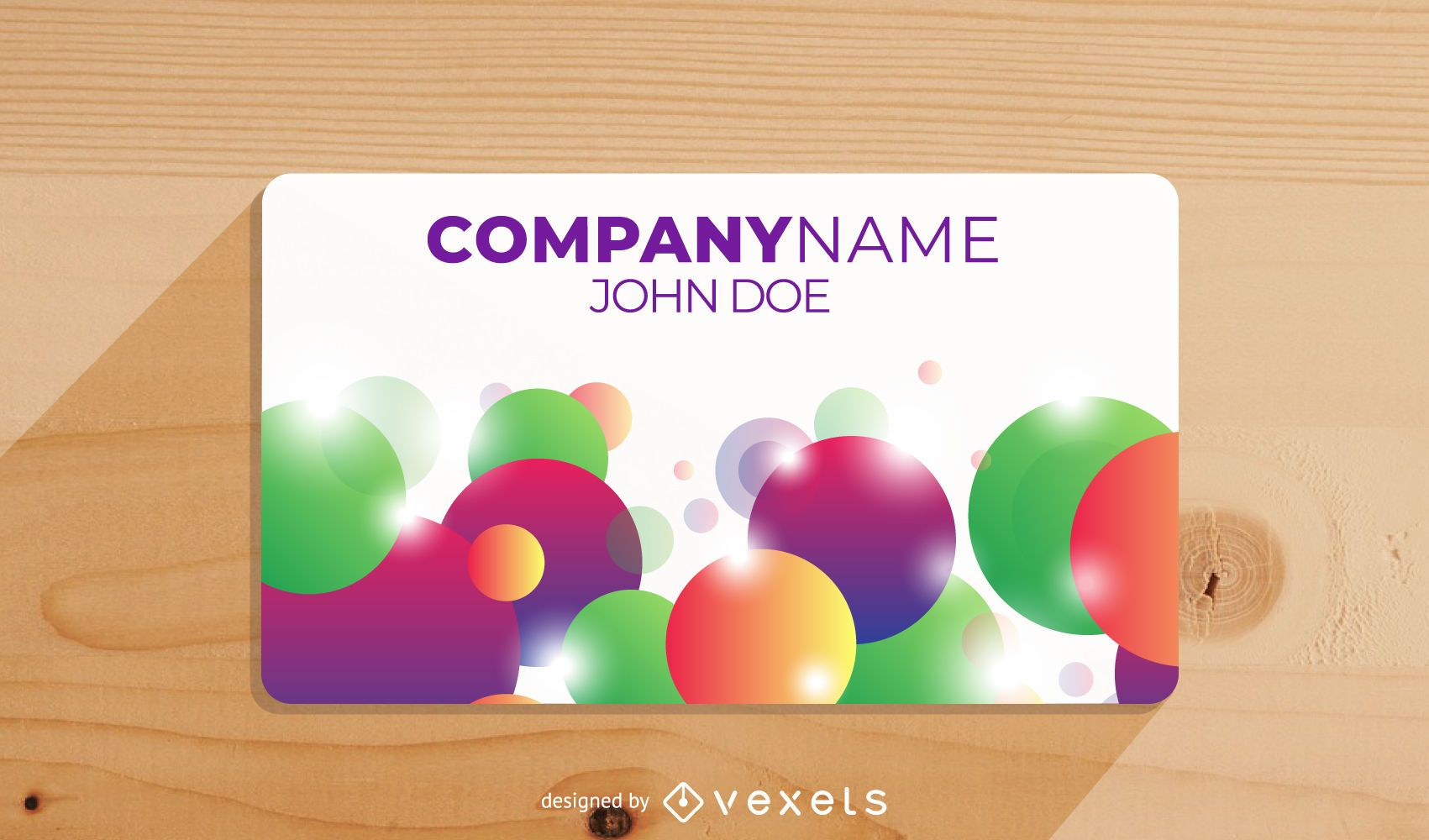 Colorful Splashed Bubbles Business Card