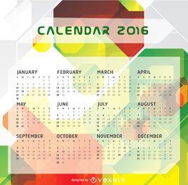 Plantilla de calendario 2016