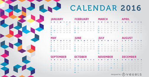 2016 calendario colorido