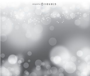 Bokeh silver vector background