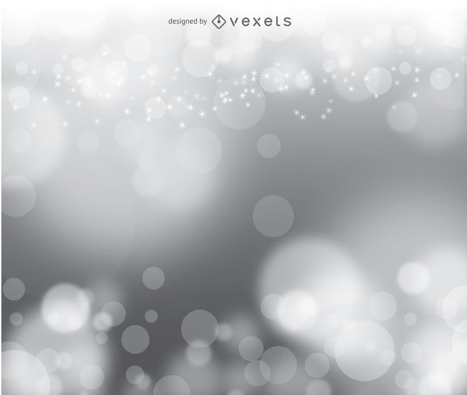 Bokeh Silber Vektor Hintergrund