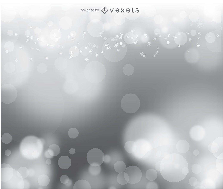 Bokeh silver vector background
