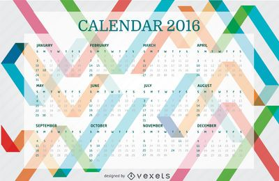 2016 Colorful Calendar