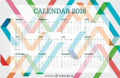 Calendario colorido 2016