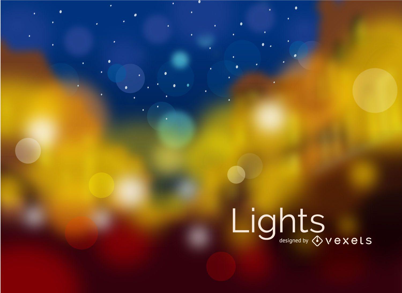 Luzes desfocadas da cidade