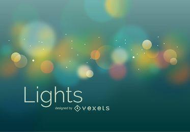 Fondo de luces bokeh borrosa
