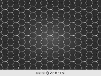 Textura de grelha de metal brilhante favo de mel