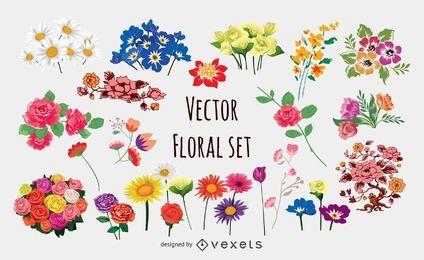 Blumenvektorsammlung