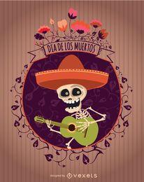 Tag der toten mexikanischen Mariachi