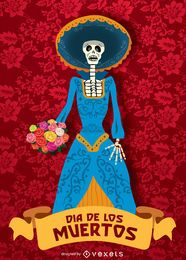 Dia do morto - Diâmetro de los muertos Catrina