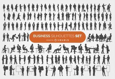 140 coleção de silhuetas de negócios
