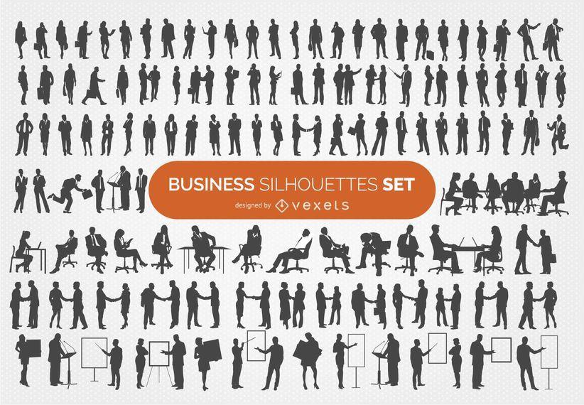 Colección de 140 siluetas de negocios