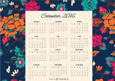 Calendário Floral 2016