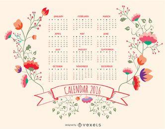 Calendário floral de 2016