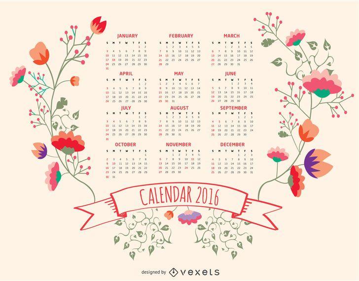 Calendario floral 2016