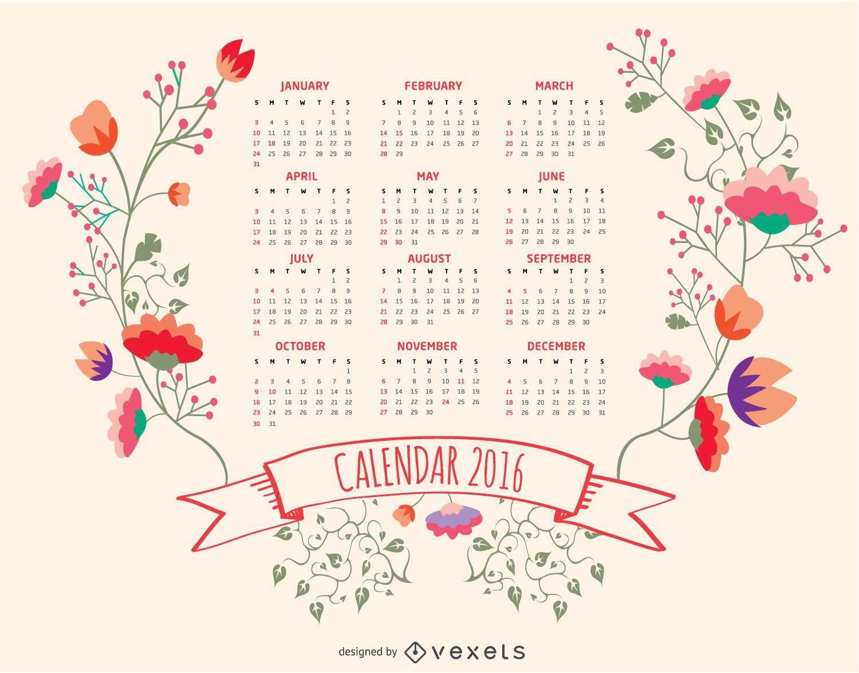 2016 floral calendar