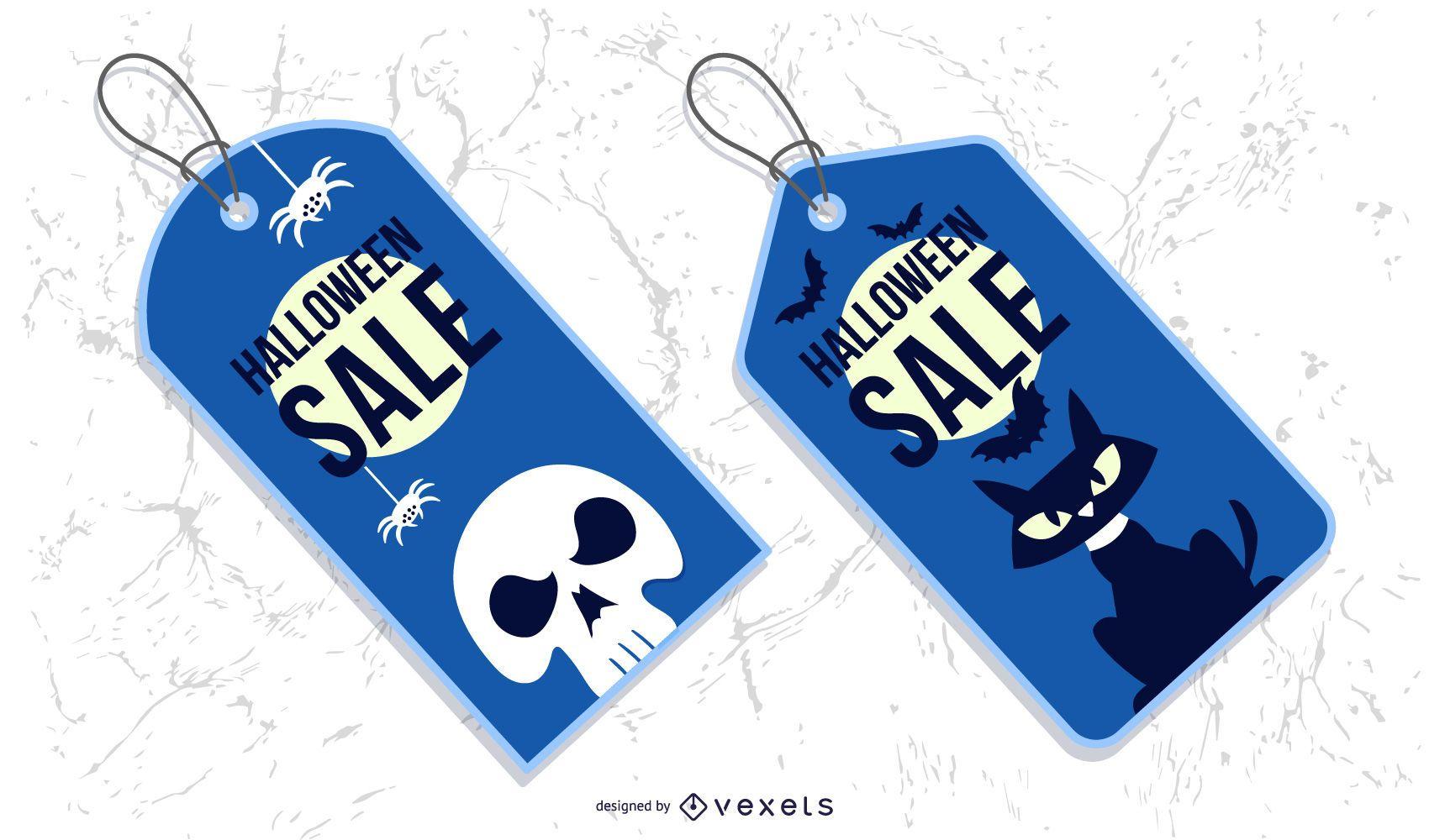 Conjunto de etiquetas de ventas de Halloween