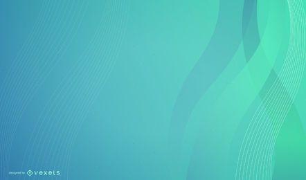Fundo de negócios de ondas verdes azuis