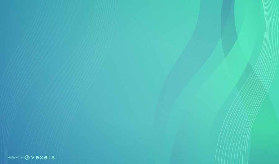 Fondo de negocio de ondas azul verde