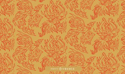 Dekorative Phoenix Pattern Ornamental Pack