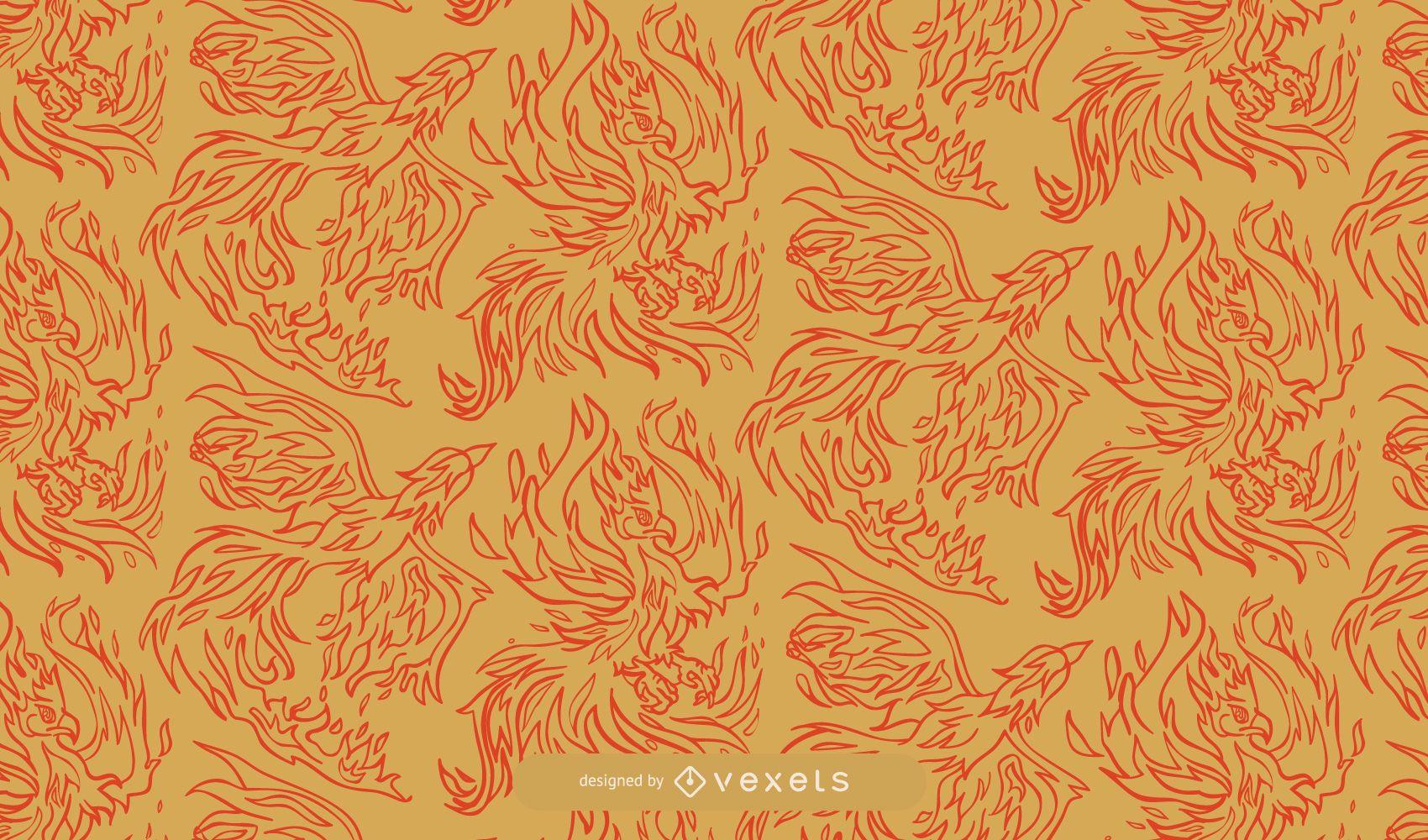 Paquete ornamental decorativo del patrón de Phoenix