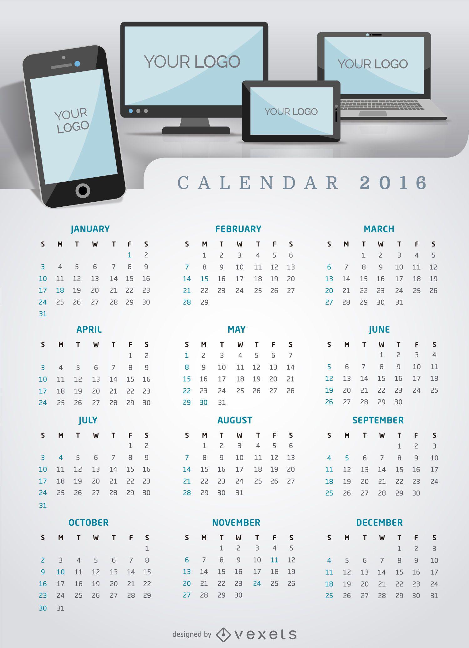 Calendar 2016 multiplatform app or website