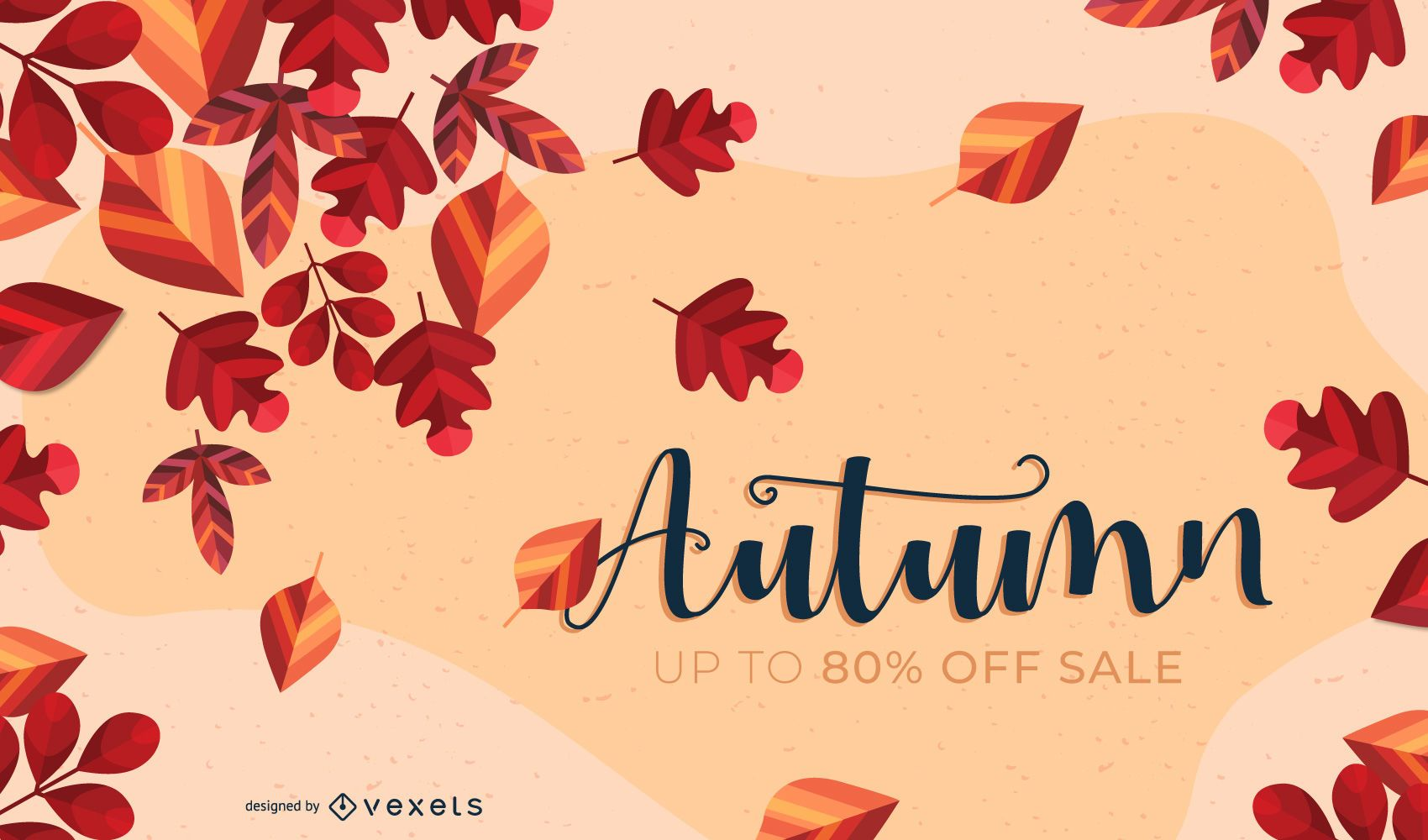 Falling Leaves Autumn Background