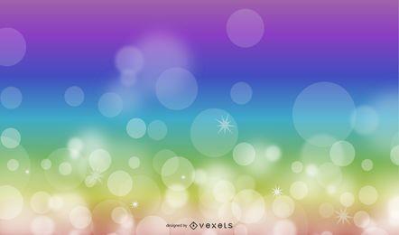 Fundo de luzes coloridas de desfocagem